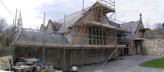 Roof scafffolding panarama
