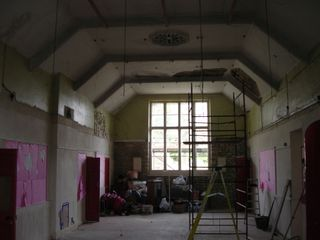 Stripped Main Hall internal